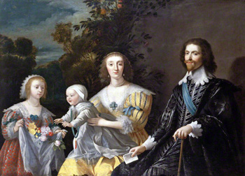 The Duke of Buckingham and his Family, after Gerrit van Honthorst. Image © National Portrait Gallery, London