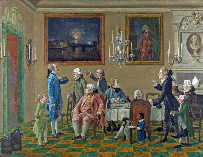 Thomas Patch:  'Caricature Group of English Dilettanti in Florence, Including Earl Tylney of Castlemaine' (c.1763-5) Yale Center for British Art, Paul Mellon Collection