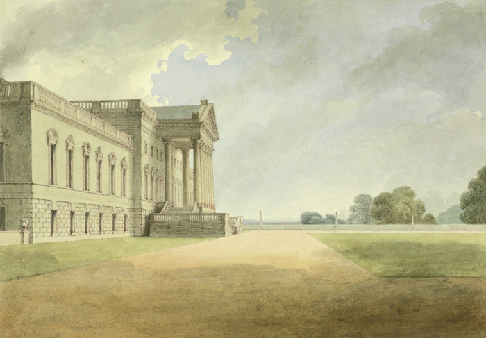 The new, Palladian, Wanstead House. Thomas Streatfield, 1807. Yale Center for British Art, Paul Mellon Collection.
