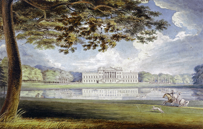 Wanstead House, by Richard Westall (1765-1836). Yale Center for British Art, Paul Mellon Collection.