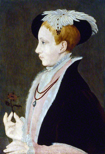 King Edward VI, studio of William Scrots, c.1546. Image © National Portrait Gallery, London.