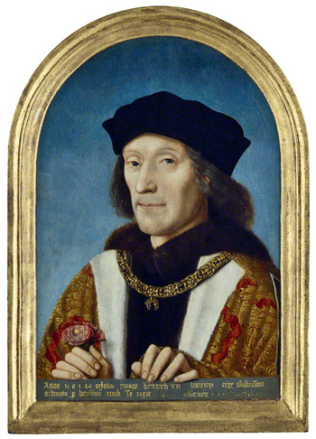 King Henry VII by an unknown Flemish artist. Image © National Portrait Gallery, London.