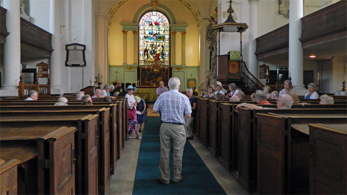 Members of the City of London Historical Society at St Mary's