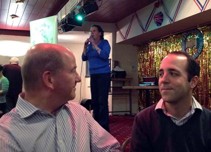 Quiz compere Greer Nicholson doing her stuff