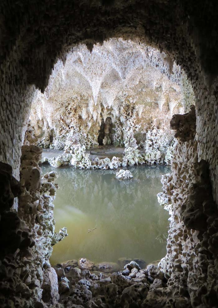 The underside of the bridge from the Crystal Grotto.