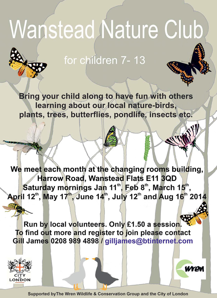 Wanstead Nature Club poster