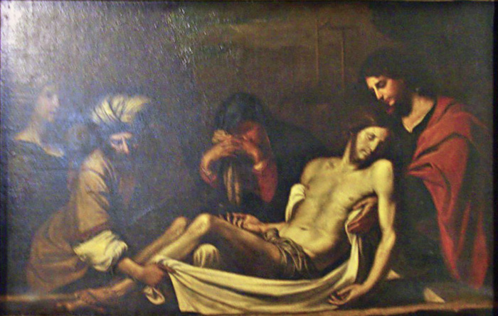 """""""The entombment of Christ"""", studio of Giovanni Francesco Barbieri (1591 - 1666), known as Guercino"""