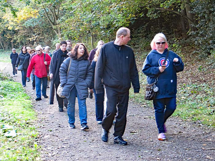 About 25 walkers joined the Friends of Wanstead Parklands on the Chestnut Trail.